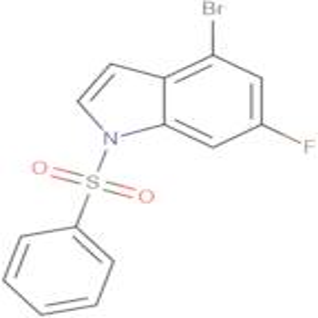 1-(BENZENESULFONYL)-4-BROMO-6-FLUORO-1H-INDOLE