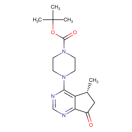 (R)-tert-Butyl 4-(5-methyl-7-oxo-6,7-dihydro-5H-cyclopenta[d]pyrimidin-4-yl)piperazine-1-carboxylate