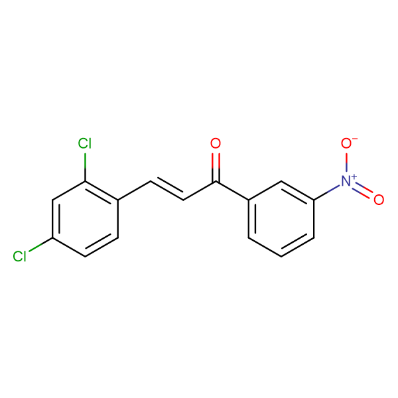 (2E)-3-(2,4-dichlorophenyl)-1-(3-nitrophenyl)prop-2-en-1-one