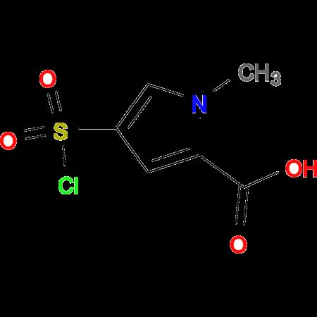 4-(CHLOROSULFONYL)-1-METHYL-1H-PYRROLE-2-CARBOXYLIC ACID