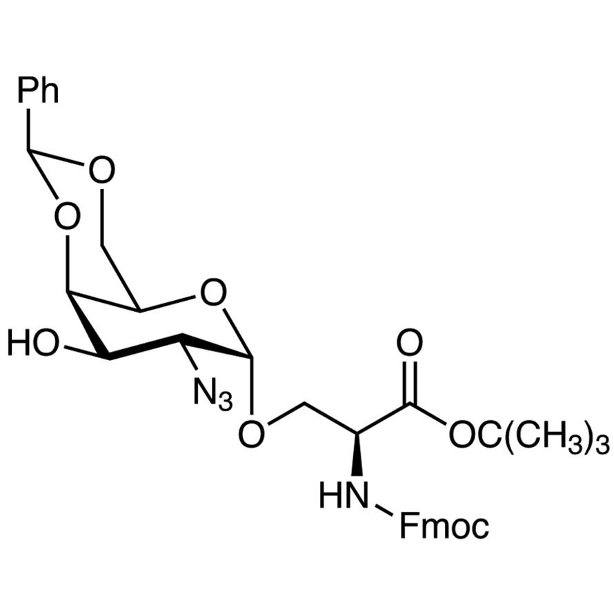 O-(2-Azido-4,6-O-benzylidene-2-deoxy--D-galactopyranosyl)-N-[(9H-fluoren-9-ylmethoxy)carbonyl]-L-serine tert-Butyl Ester