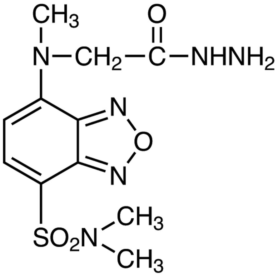 DBD-CO-Hz [=4-(N,N-Dimethylaminosulfonyl)-7-(N-hydrazinocarbonylmethyl-N-methyl)amino-2,1,3-benzoxadiazole] [for HPLC Labeling]