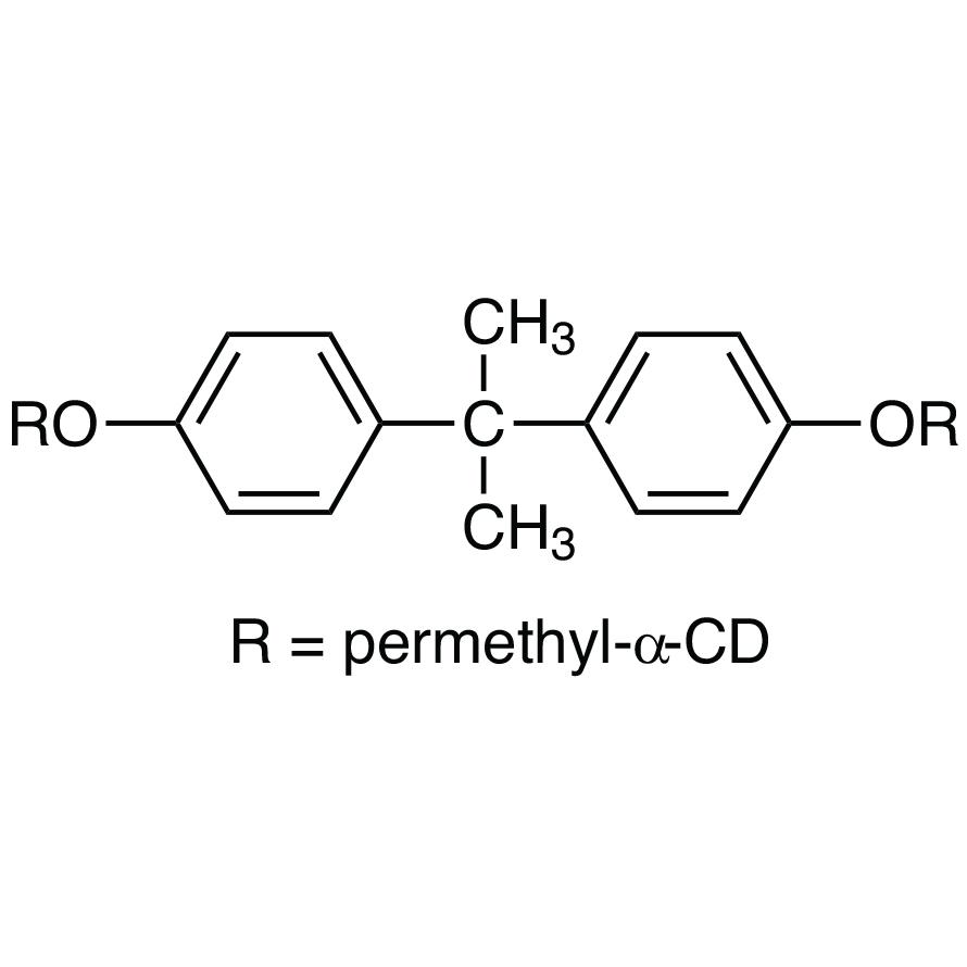 2,2-Bis[4-(per-O-methyl-α-cyclodextrin-6-yloxy)phenyl]propane