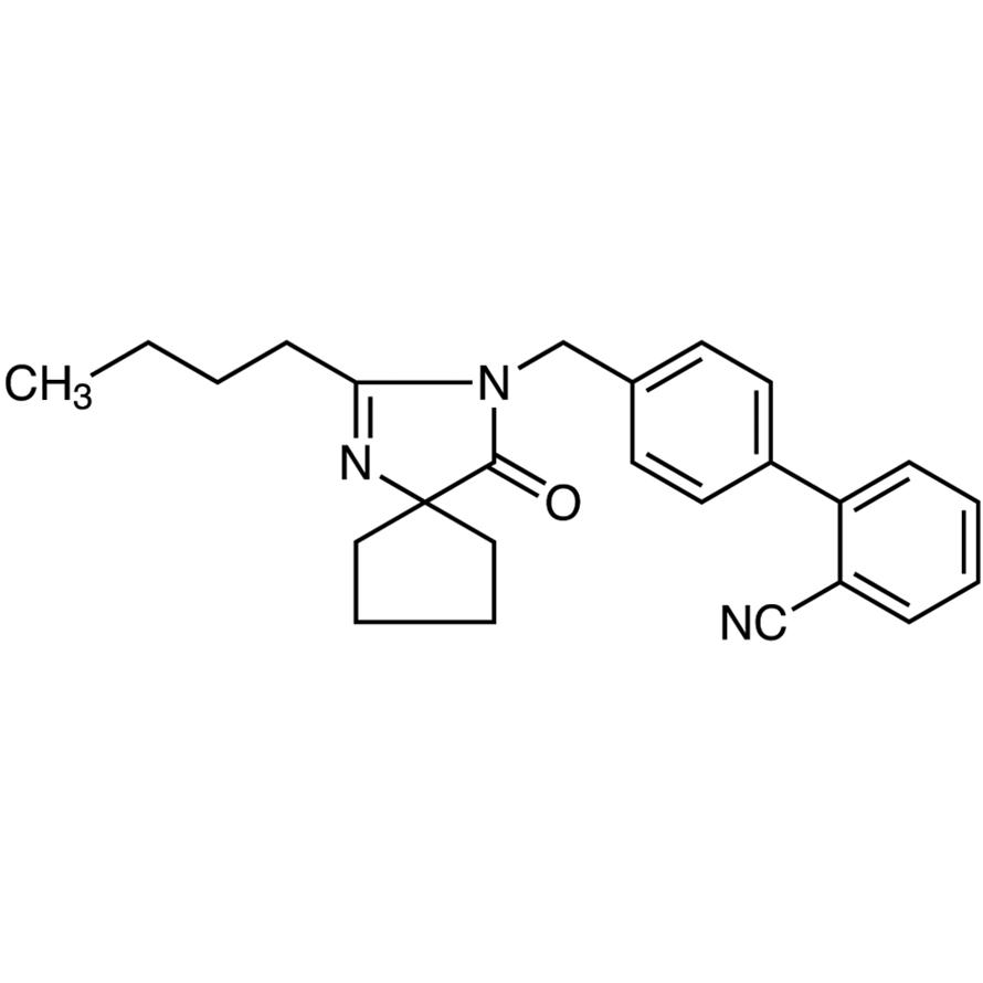 2-Butyl-3-[[2'-cyano-[1,1'-biphenyl]-4-yl]methyl]-1,3-diazaspiro[4,4]non-1-en-4-one