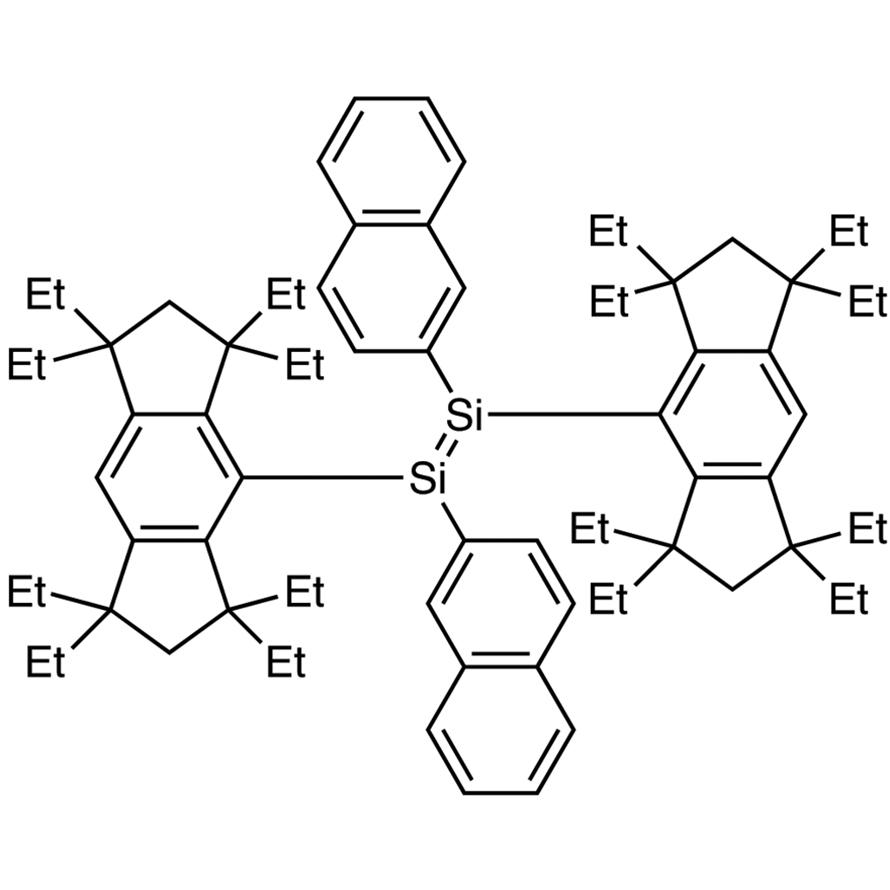 (E)-1,2-Bis(2-naphthyl)-1,2-bis(1,1,3,3,5,5,7,7-octaethyl-1,2,3,5,6,7-hexahydro-s-indacen-4-yl)disilene