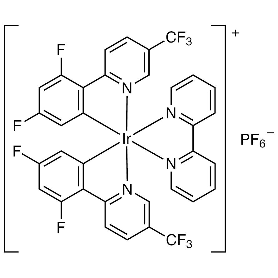 (2,2'-Bipyridine)bis[3,5-difluoro-2-[5-(trifluoromethyl)-2-pyridinyl-N][phenyl-C]iridium(III) Hexafluorophosphate