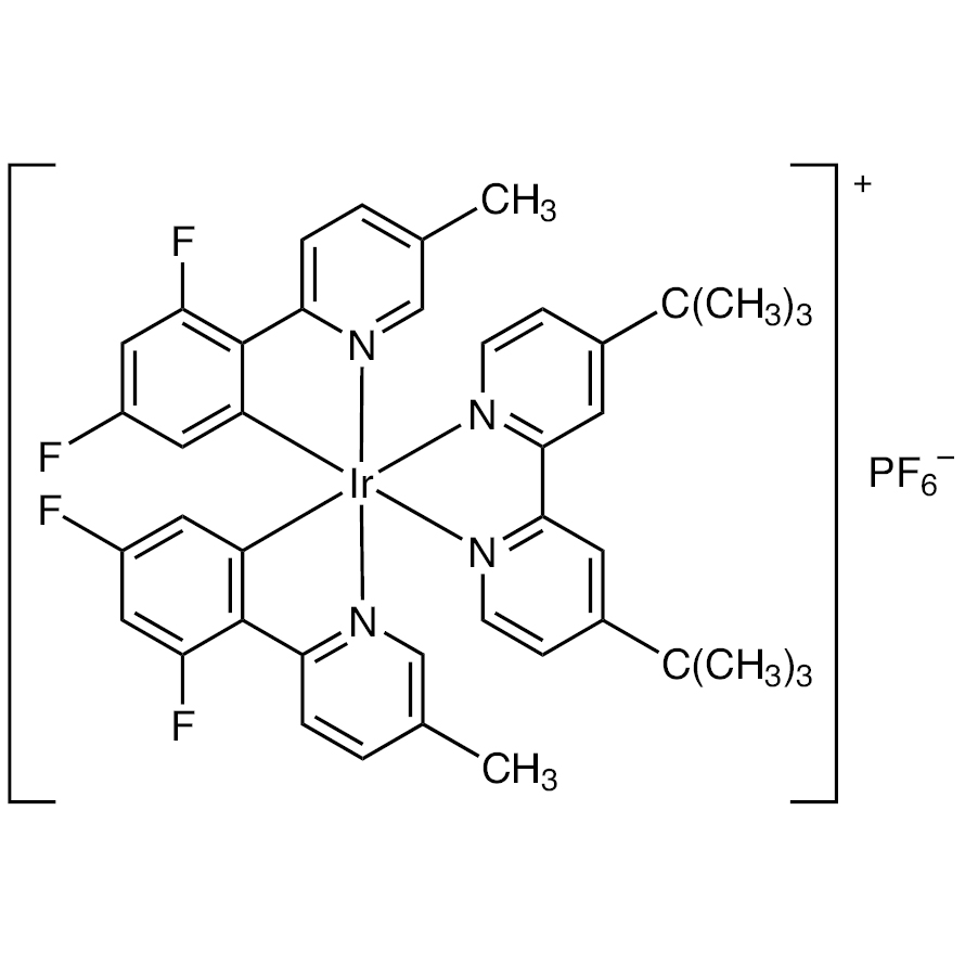 (4,4'-Di-tert-butyl-2,2'-bipyridine-2N1,N1')[bis[3,5-difluoro-2-(5-methyl-2-pyridinyl-N)phenyl-C1]]iridium Hexafluorophosphate