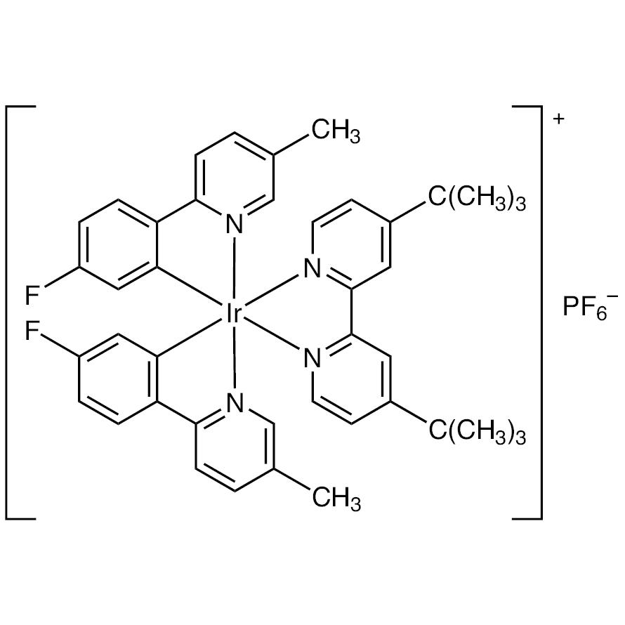 (4,4'-Di-tert-butyl-2,2'-bipyridine-2N1,N1')[bis[5-fluoro-2-(5-methyl-2-pyridinyl-N)phenyl-C1]]iridium Hexafluorophosphate