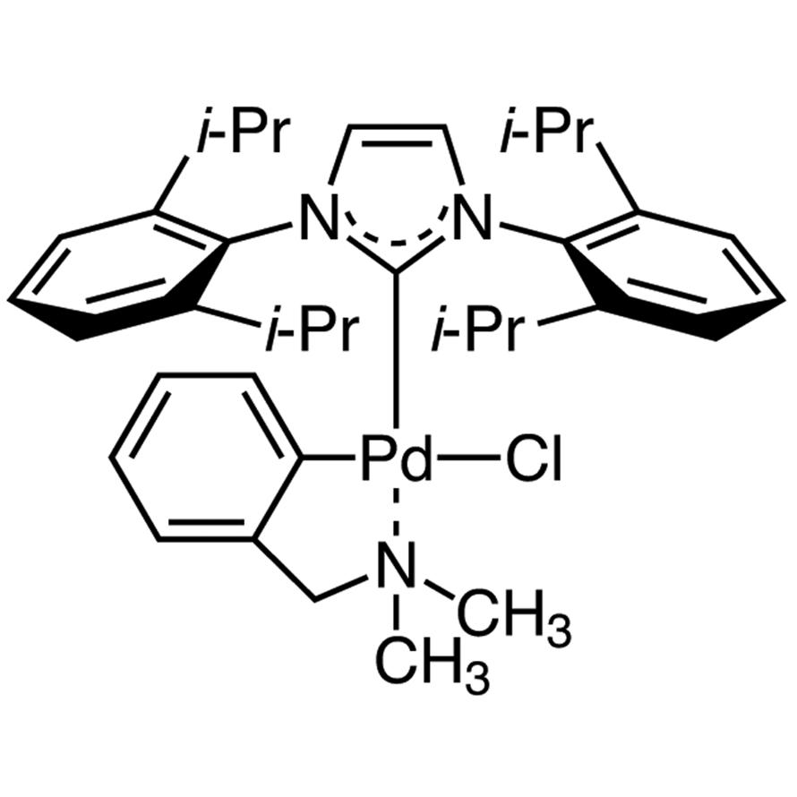 Chloro[[1,3-bis(2,6-diisopropylphenyl)imidazol-2-ylidene](N,N-dimethylbenzylamine)palladium(II)] (This product is unavailable in the U.S.)