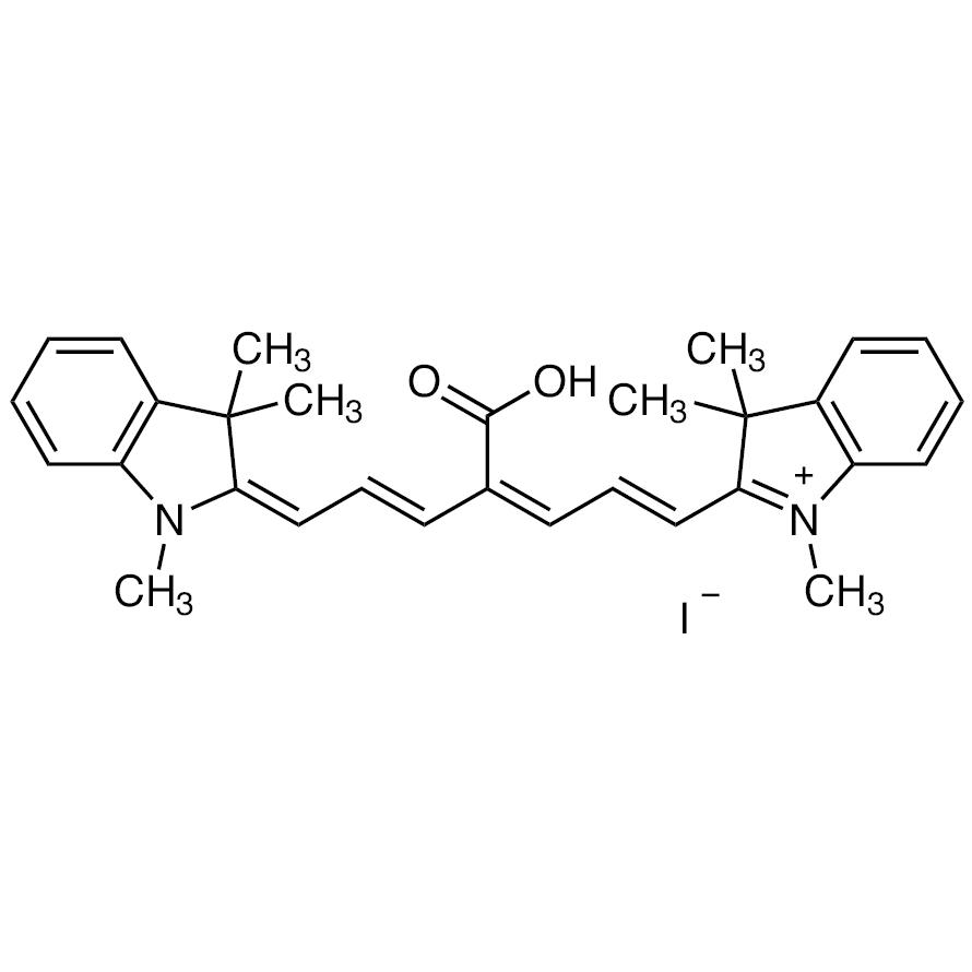 2-[(1E,3Z,5E,7E)-4-Carboxy-7-(1,3,3-trimethyl-1,3-dihydro-2H-indol-2-ylidene)-1,3,5-heptatrien-1-yl]-1,3,3-trimethyl-3H-indolium Iodide