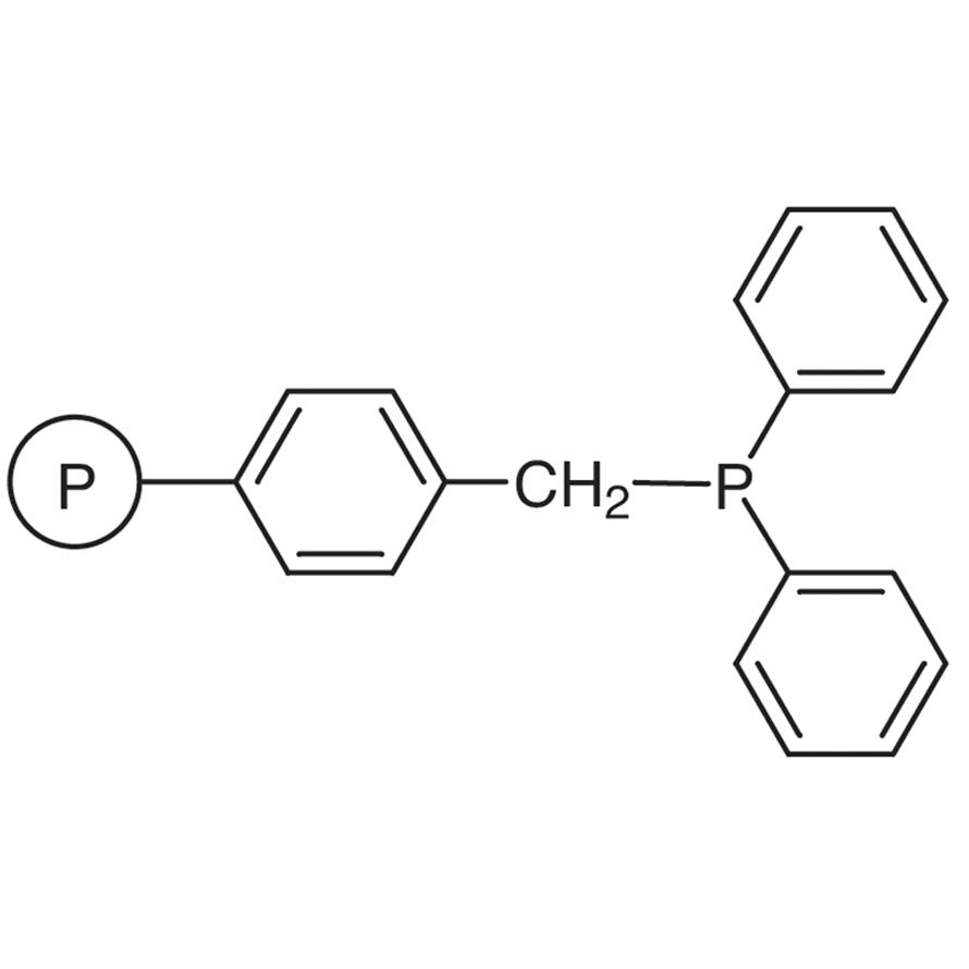 4-Diphenylphosphinomethyl Polystyrene Resin cross-linked with 2% DVB (200-400mesh) (0.5-1.0mmol/g)
