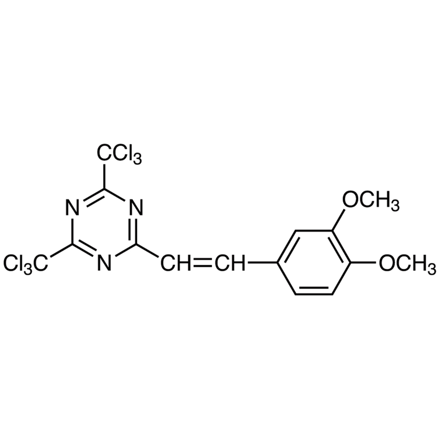 2-(3,4-Dimethoxystyryl)-4,6-bis(trichloromethyl)-1,3,5-triazine