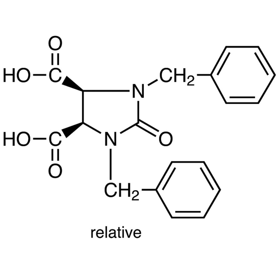 cis-1,3-Dibenzyl-2-oxo-4,5-imidazolidinedicarboxylic Acid