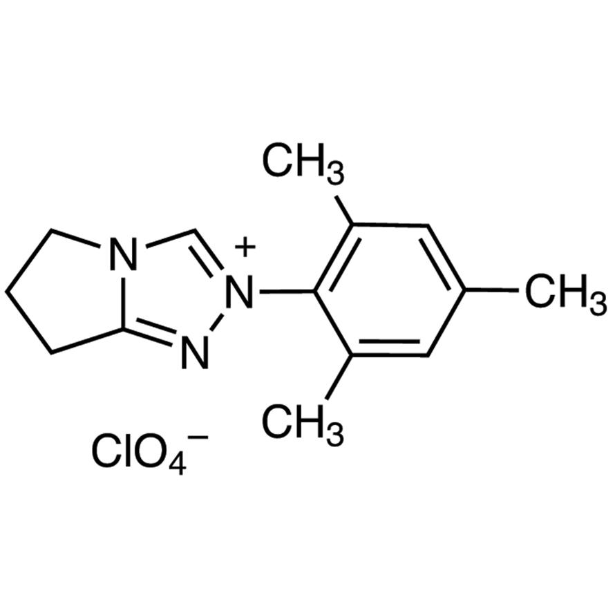 6,7-Dihydro-2-(2,4,6-trimethylphenyl)-5H-pyrrolo[2,1-c]-1,2,4-triazolium Perchlorate