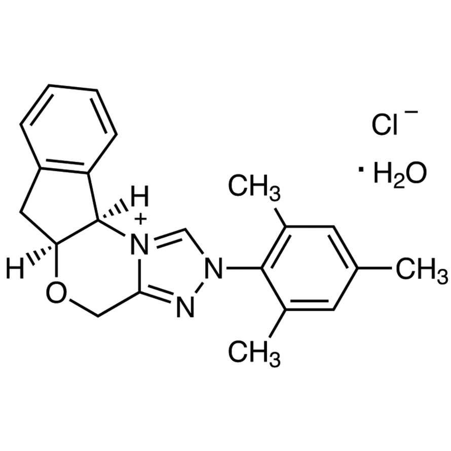 (-)-(5aS,10bR)-5a,10b-Dihydro-2-(2,4,6-trimethylphenyl)-4H,6H-indeno[2,1-b][1,2,4]triazolo[4,3-d][1,4]oxazinium Chloride Monohydrate