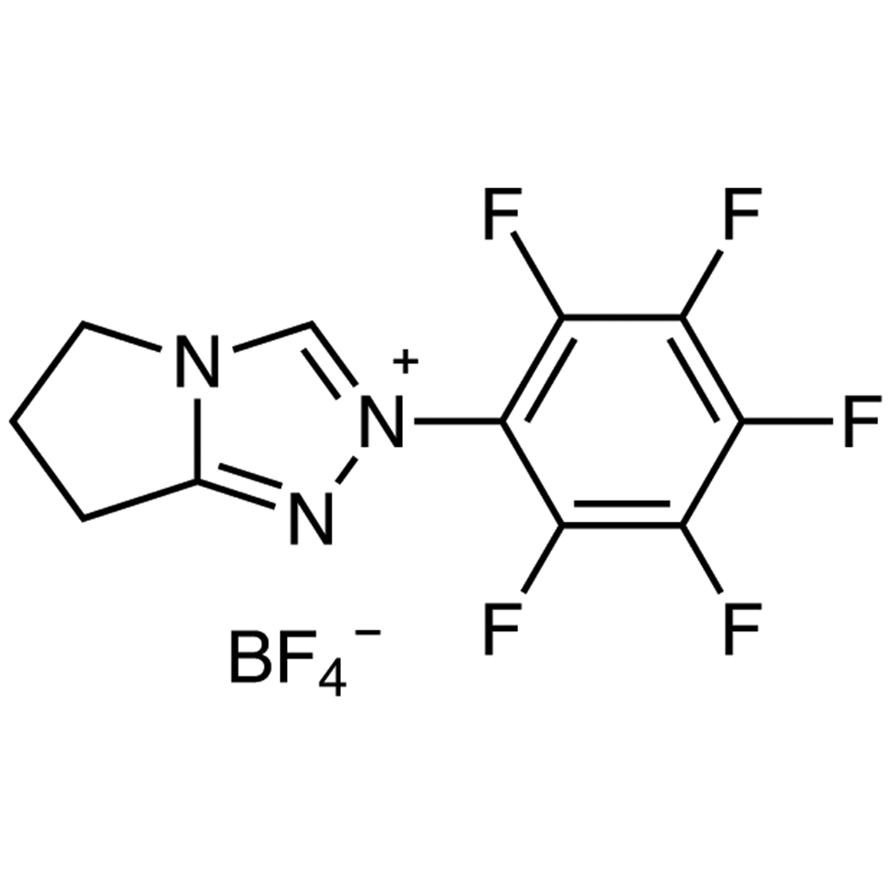 6,7-Dihydro-2-pentafluorophenyl-5H-pyrrolo[2,1-c][1,2,4]triazolium Tetrafluoroborate