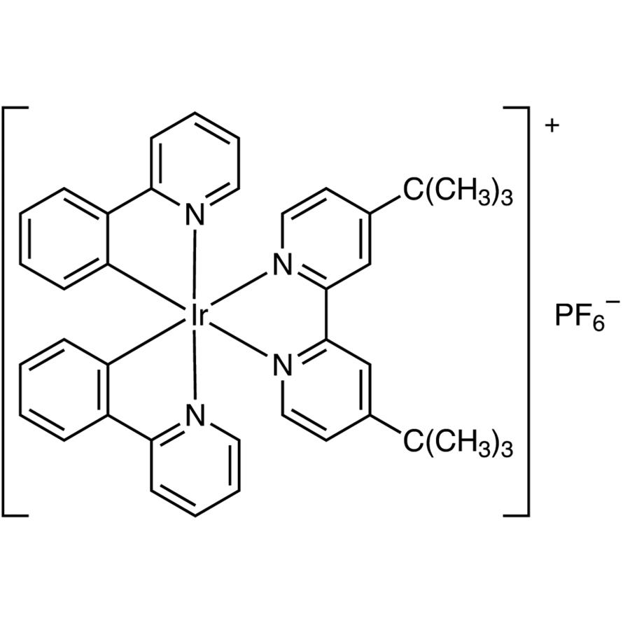(4,4'-Di-tert-butyl-2,2'-bipyridine)bis[(2-pyridinyl)phenyl]iridium(III) Hexafluorophosphate