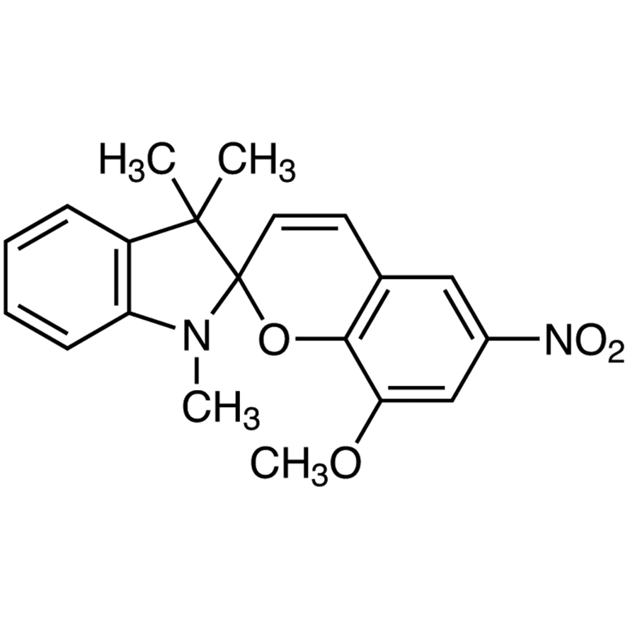 1',3'-Dihydro-8-methoxy-1',3',3'-trimethyl-6-nitrospiro[2H-1-benzopyran-2,2'-[2H]indole]