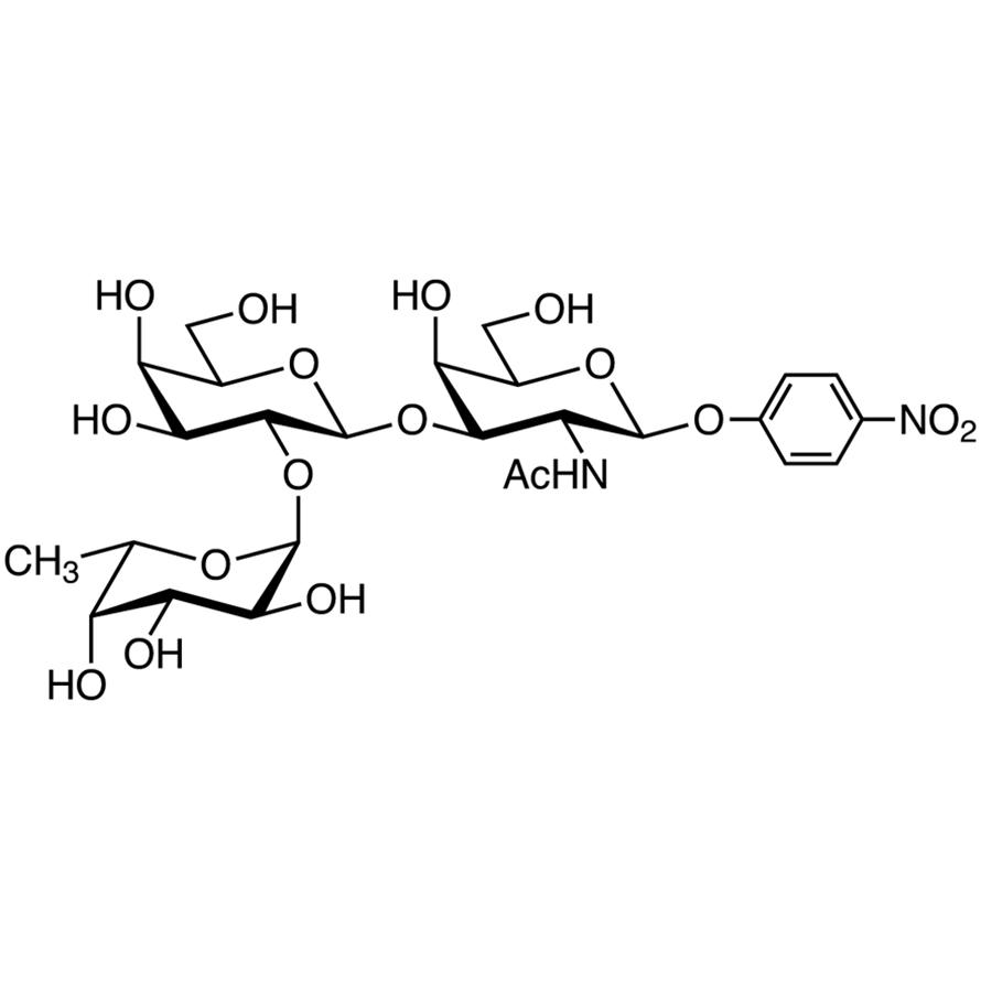 Fuc(1-2)Gal(1-3)GalNAc--pNP (=H type 3 -pNP Glycoside)