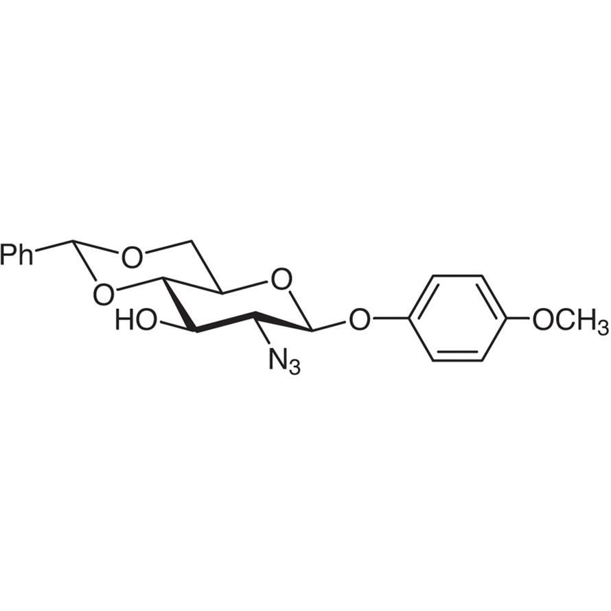 4-Methoxyphenyl 2-Azido-4,6-O-benzylidene-2-deoxy--D-glucopyranoside