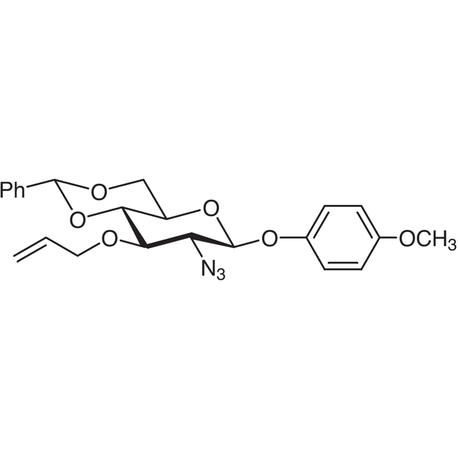 4-Methoxyphenyl 3-O-Allyl-2-azido-4,6-O-benzylidene-2-deoxy--D-glucopyranoside