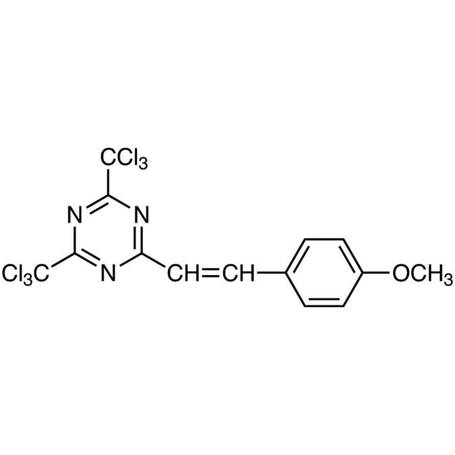 2-(4-Methoxystyryl)-4,6-bis(trichloromethyl)-1,3,5-triazine