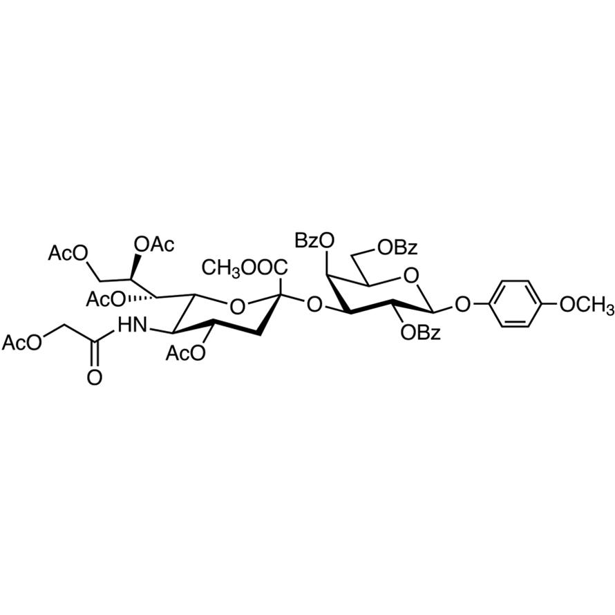Neu5GcAc[1Me,4789Ac]α(2-3)Gal[246Bz]-β-MP