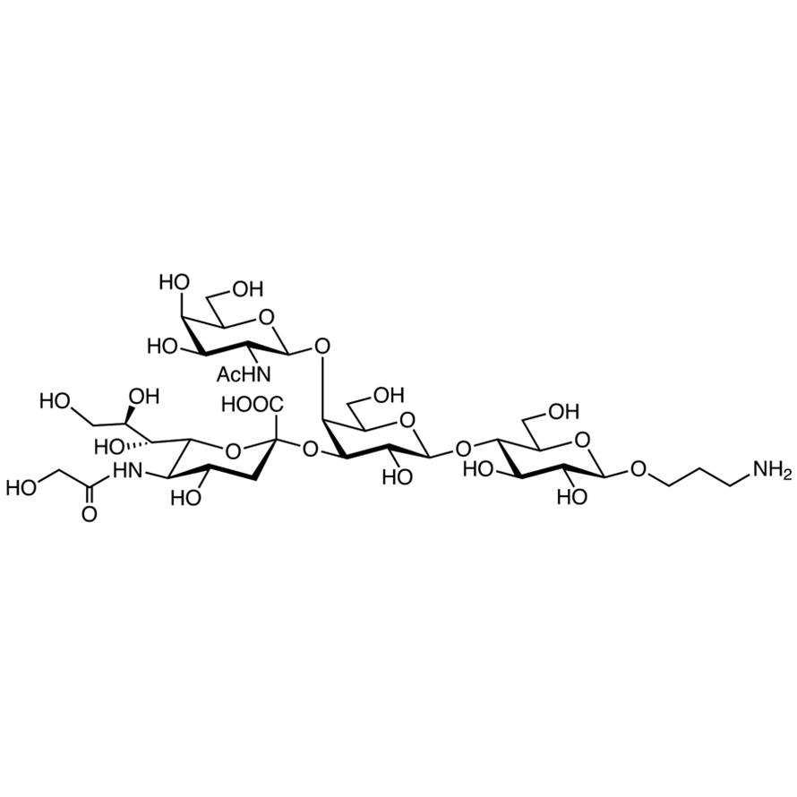 Neu5Gc(2-3)[GalNAc(1-4)]Gal(1-4)Glc--propylamine