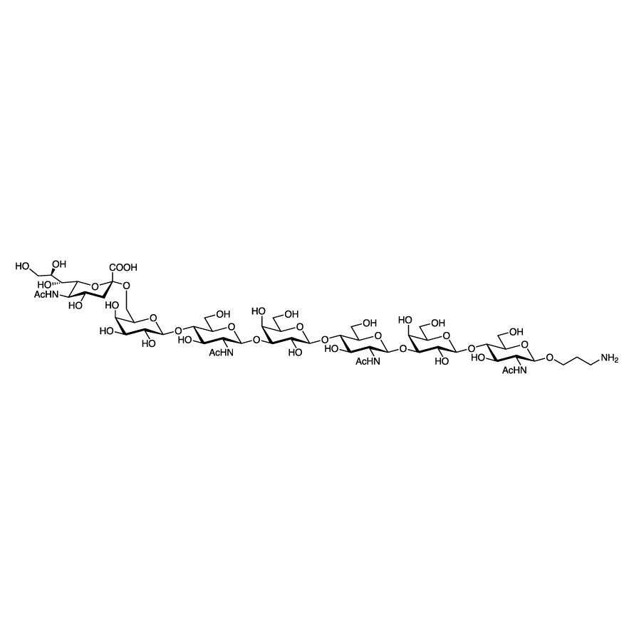 Neu5Ac(2-6)Gal(1-4)GlcNAc(1-3)Gal(1-4)GlcNAc(1-3)Gal(1-4)GlcNAc--propylamine