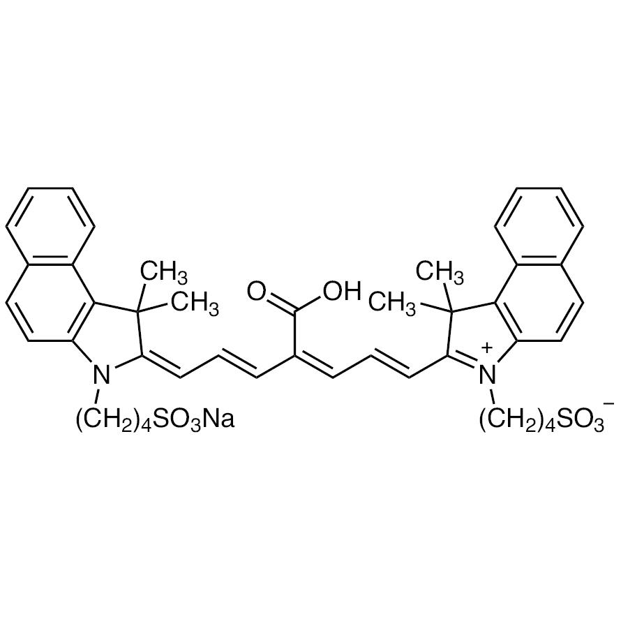 Sodium 4-[2-[(1E,3Z,5E,7E)-4-Carboxy-7-[1,1-dimethyl-3-(4-sulfonatobutyl)-1,3-dihydro-2H-benzo[e]indol-2-ylidene]hepta-1,3,5-trien-1-yl]-1,1-dimethyl-1H-benzo[e]indol-3-ium-3-yl]butane-1-sulfonate