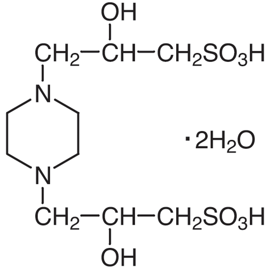 Piperazine-1,4-bis(2-hydroxypropanesulfonic Acid) Dihydrate [Good's buffer component for biological research]