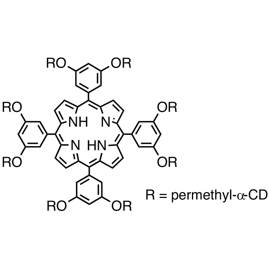 5,10,15,20-Tetrakis[3,5-bis(per-O-methyl--cyclodextrin-6-yloxy)phenyl]-21H,23H-porphine