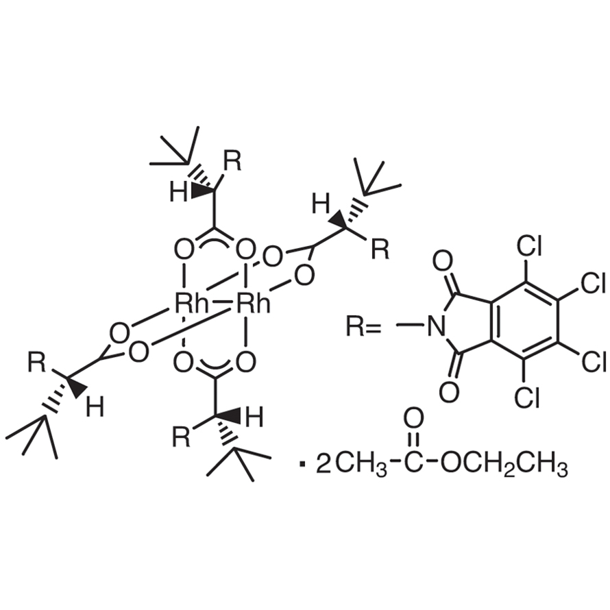 Tetrakis[N-tetrachlorophthaloyl-(S)-tert-leucinato]dirhodium Bis(ethyl Acetate) Adduct