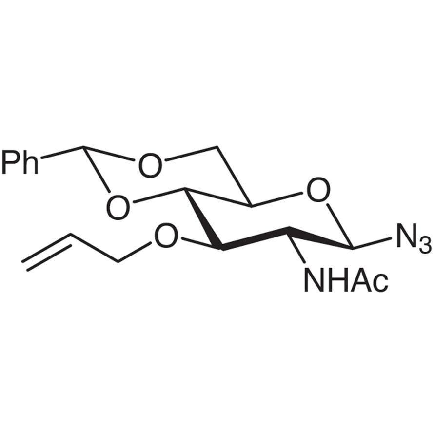 2-Acetamido-3-O-allyl-4,6-O-benzylidene-2-deoxy--D-glucopyranosyl Azide