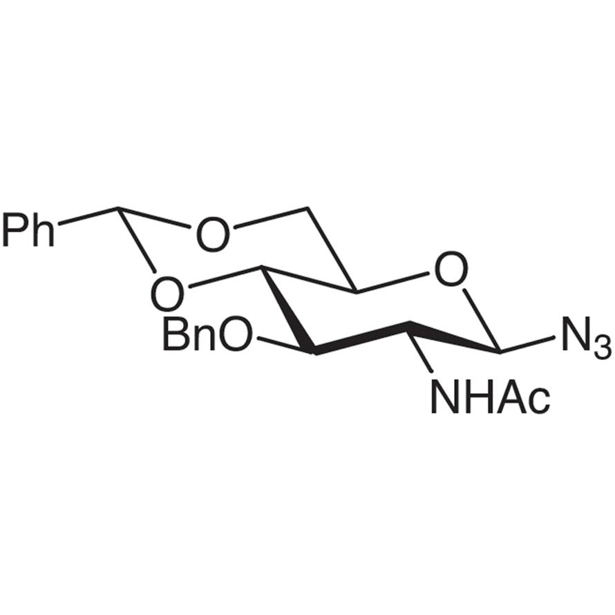 2-Acetamido-3-O-benzyl-4,6-O-benzylidene-2-deoxy--D-glucopyranosyl Azide