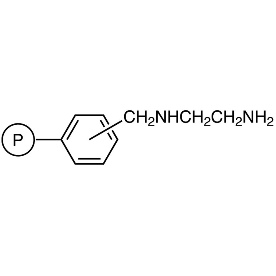 N-(2-Aminoethyl)aminomethyl Polystyrene Resin cross-linked with 1% DVB (50-100mesh) (3.1-3.5mmol/g)