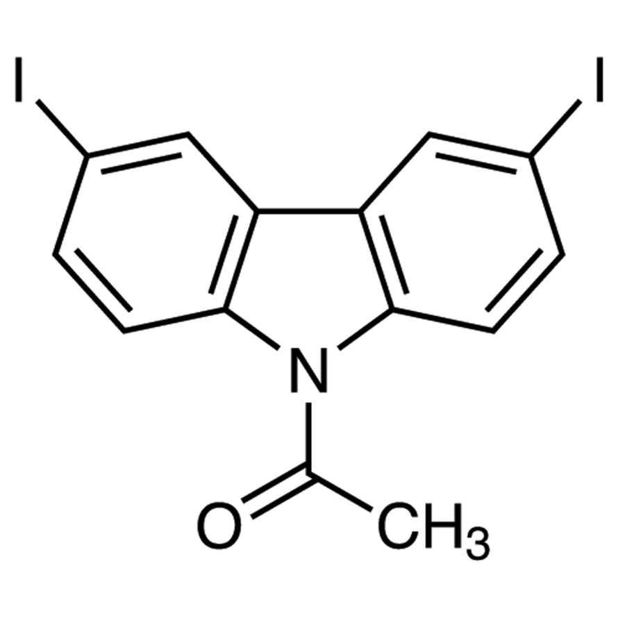 9-Acetyl-3,6-diiodocarbazole