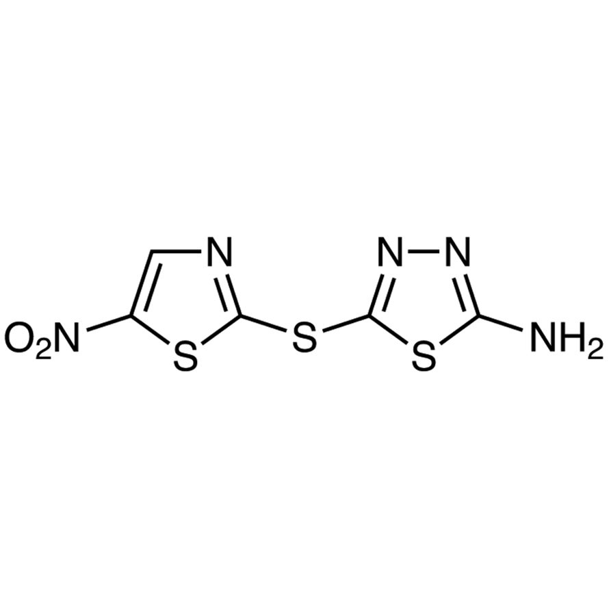 2-Amino-5-[(5-nitro-2-thiazolyl)thio]-1,3,4-thiadiazole