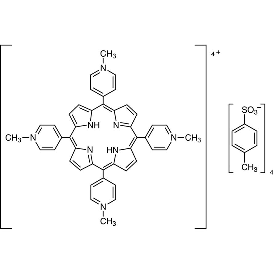 TMPyP [=,,,-Tetrakis(1-methylpyridinium-4-yl)porphyrin p-Toluenesulfonate] [Ultra-high sensitive spectrophotometric reagent for Cu, Mg] [For the simultaneous determination of metals by HPLC]