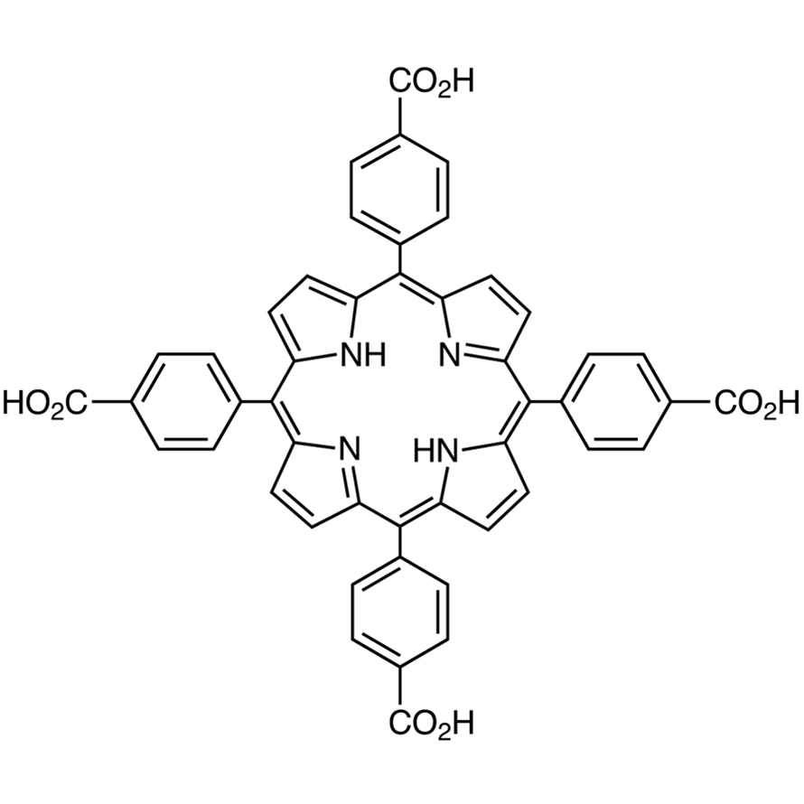 TCPP [=Tetrakis(4-carboxyphenyl)porphyrin] [Ultra-high sensitive spectrophotometric reagent for Cu, Cd] [For the simultaneous determination of metals by HPLC]