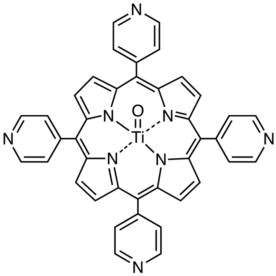 Oxo[5,10,15,20-tetra(4-pyridyl)porphyrinato]titanium(IV) [Determination of Glucose in Serum and Urine]