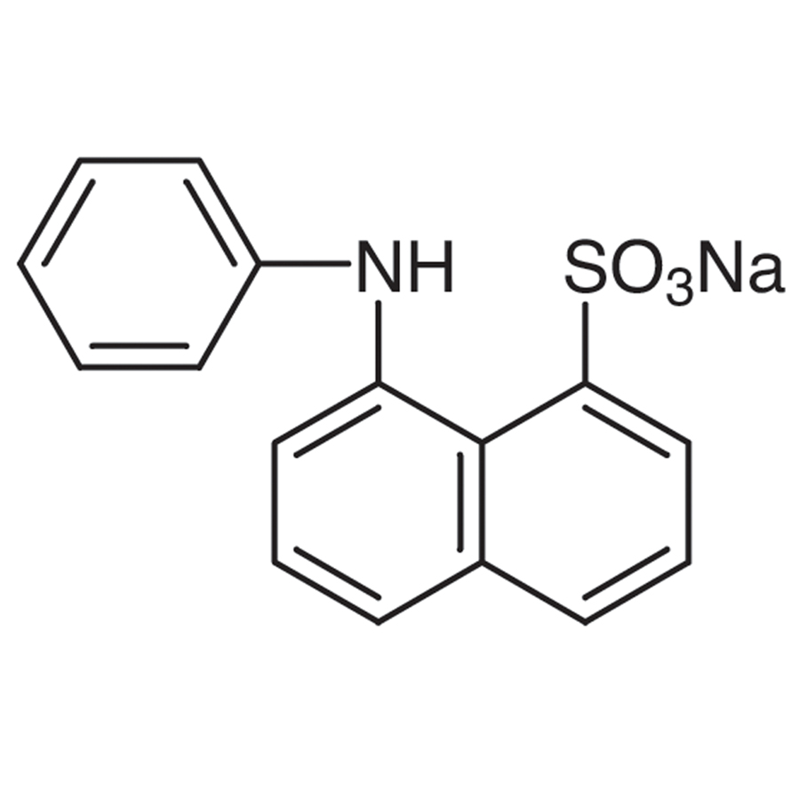 ANS-Na (=Sodium 8-Anilino-1-naphthalenesulfonate) [Hydrophobic fluorescent probe]