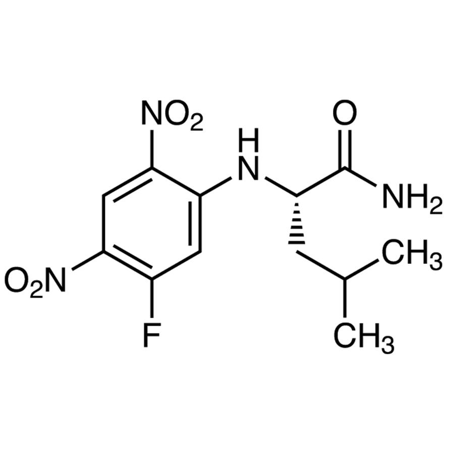 N-(5-Fluoro-2,4-dinitrophenyl)-L-leucinamide [HPLC Labeling Reagent for e.e. Determination]