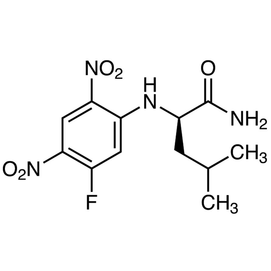 N-(5-Fluoro-2,4-dinitrophenyl)-D-leucinamide [HPLC Labeling Reagent for e.e. Determination]
