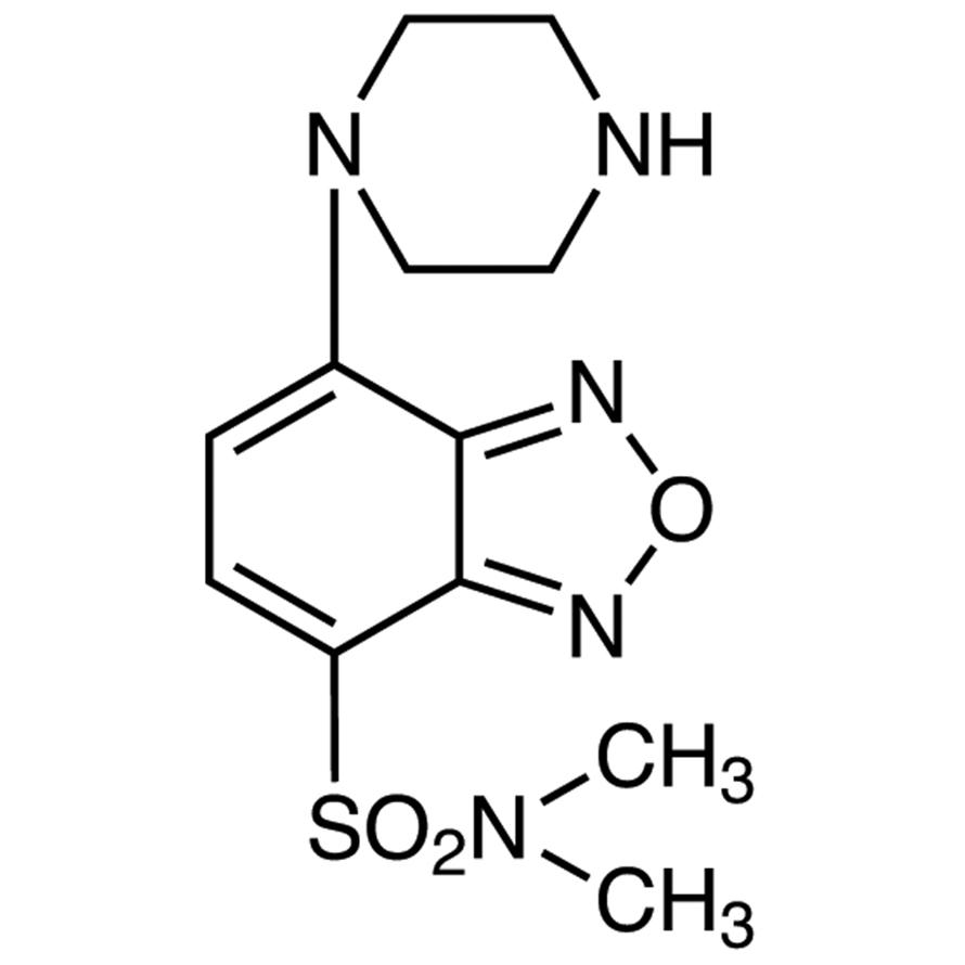 DBD-PZ [=4-(N,N-Dimethylaminosulfonyl)-7-piperazino-2,1,3-benzoxadiazole] [for HPLC Labeling]