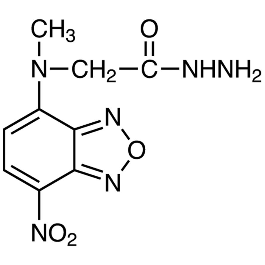 NBD-CO-Hz [=4-(N-Hydrazinocarbonylmethyl-N-methylamino)-7-nitro-2,1,3-benzoxadiazole] [for HPLC Labeling]