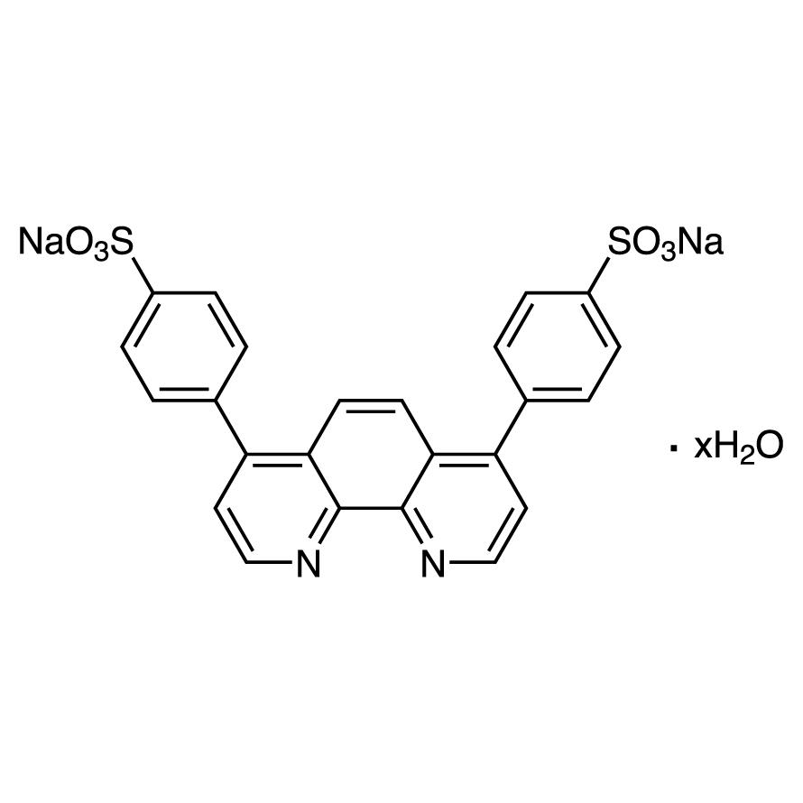 Bathophenanthrolinedisulfonic Acid Disodium Salt Hydrate [for Determination of Ferrous Ion]