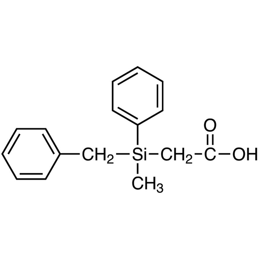 (+)-Benzylmethylphenylsilylacetic Acid [for e.e. Determination by NMR]
