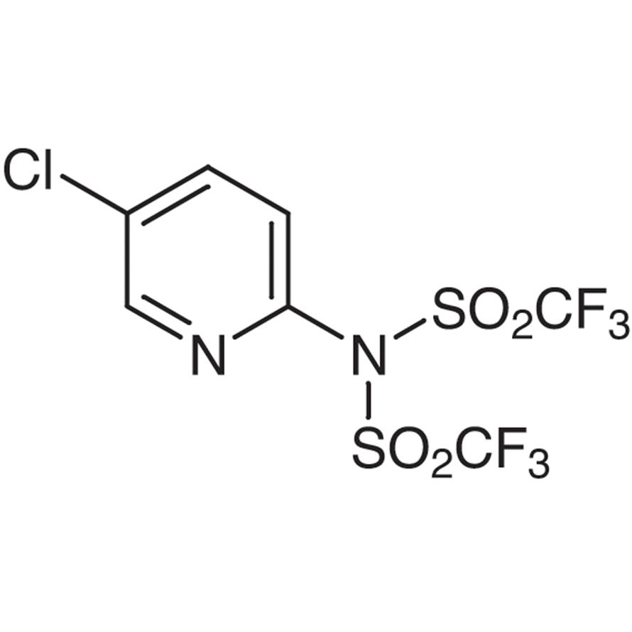2-[N,N-Bis(trifluoromethanesulfonyl)amino]-5-chloropyridine [Triflating Reagent]