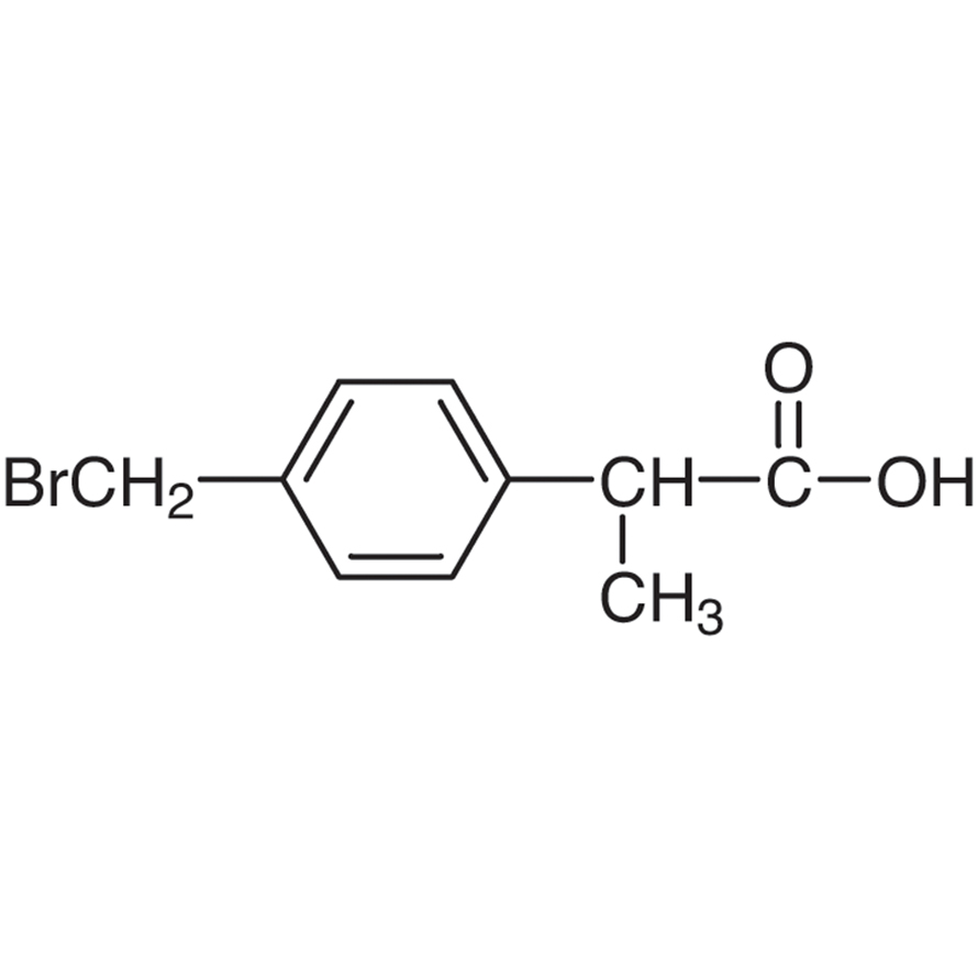 2-[4-(Bromomethyl)phenyl]propionic Acid